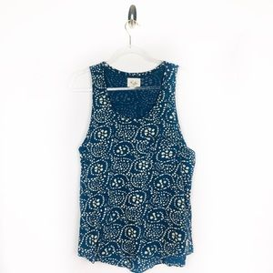 💚Urban Outfitters Koto Blue Spiral Tank Top SizeM